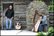Tapestry Harp and Acoustic Guitar performing at The Harp Gathering